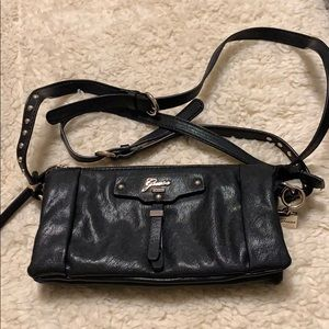 Guess black leather bag.